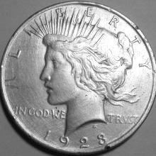 Srebrnjak Peace dollar