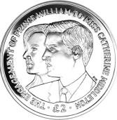 Izdan novi srebrnjak u povodu zaruka princa Willama i Kate Middleton