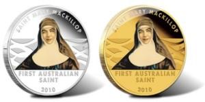 Sveta Mary MacKillop zlatnik i srebrnjak