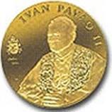 Zlatnik i srebrnjak Papa Ivan Pavao II