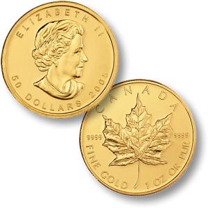 Zlatnik Kanadski javorov list