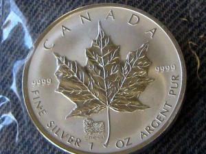 Srebrni kanadski javorov list