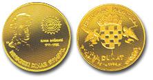 Zlatni dukat hrvatski dinar Ruđer Bošković