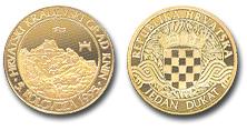 Zlatni dukat Knin hrvatski kraljevski grad