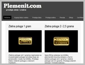 Plemenit.com - novi portal za kupnju zlata i srebra
